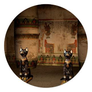 """Templo de Egipto con hieroglyphics Invitación 5.25"""" X 5.25"""""""