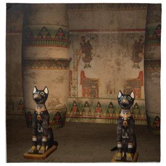 Templo de Egipto con hieroglyphics Servilleta
