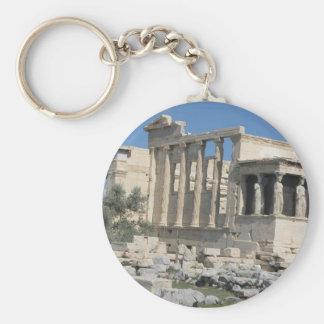 Templo de Erecthion de la acrópolis en Atenas Llavero Redondo Tipo Pin