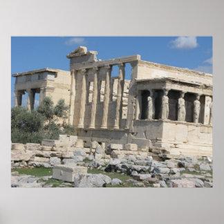 Templo de Erecthion de la acrópolis en Atenas Posters