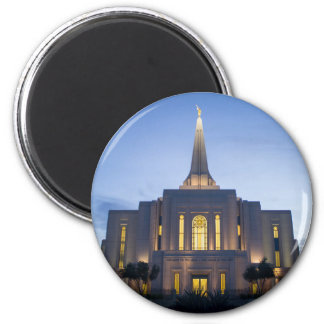 Templo de GIlbert Arizona LDS Imán Redondo 5 Cm