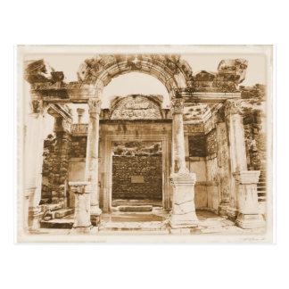 Templo de Hadrian en FOTOGRAFÍA del VINTAGE de Tarjetas Postales