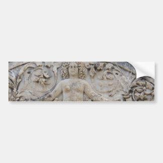 Templo de Hadrian MEDUSA - imagen de la medusa Etiqueta De Parachoque