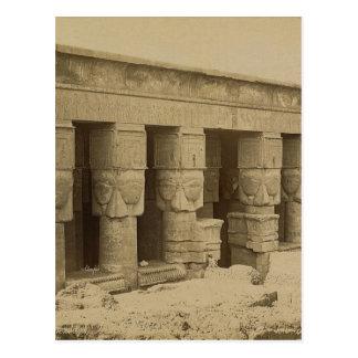 Templo de Hathor, Egipto circa 1867 Postales