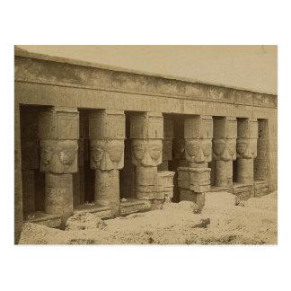 Templo de Hathor, Egipto circa 1867 Postal