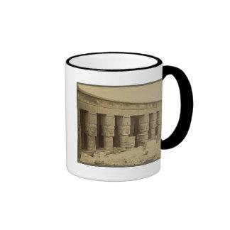 Templo de Hathor Egipto circa 1867 Taza De Café