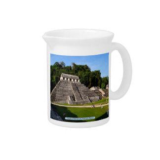 Templo de inscripciones, Palenque, México Jarras