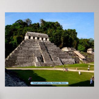 Templo de inscripciones, Palenque, México Póster