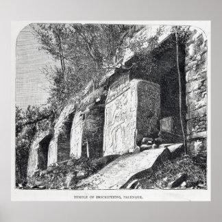 Templo de inscripciones, Palenque Póster