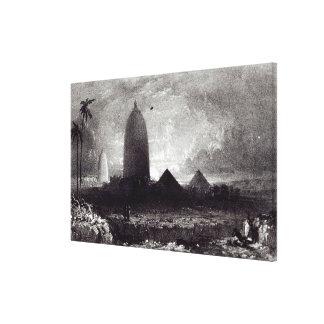 Templo de Jagannath, grabado por A. Picken, 1837 Impresión De Lienzo