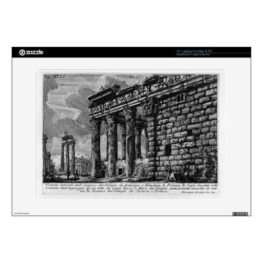 Templo de Juan Piranesi- de Antonius y de Faustina Calcomanía Para 38,1cm Portátil