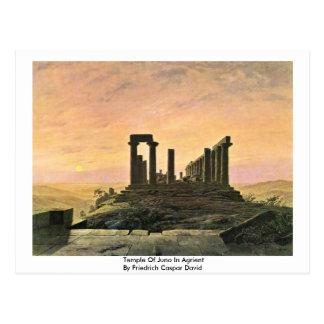 Templo de Juno en Agrient Tarjetas Postales