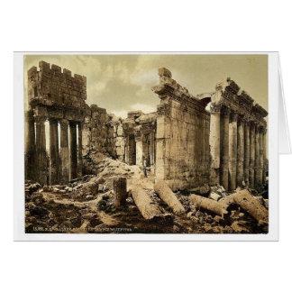 Templo de Júpiter, la fachada, Baalbek, Tierra San Tarjeta