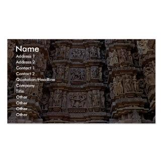 Templo de Khajuraho, la India Tarjeta Personal