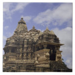 Templo de Khajuraho, Madhya Pradesh, la India Azulejo Cuadrado Grande