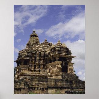 Templo de Khajuraho, Madhya Pradesh, la India Poster