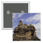 Templo de Khajuraho, Madhya Pradesh, la India Pin Cuadrado