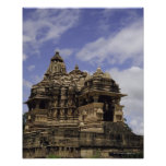 Templo de Khajuraho, Madhya Pradesh, la India Póster