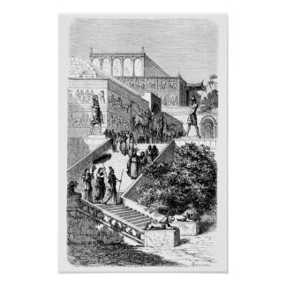 Templo de Khorsabad Póster