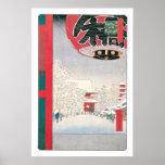 Templo de Kinryuzan, Asakusa, 1856 Póster