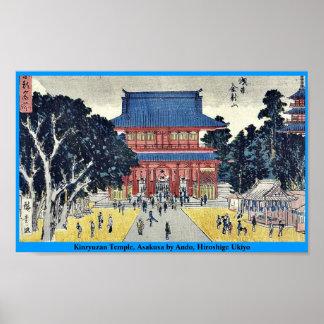 Templo de Kinryuzan, Asakusa por Ando, Hiroshige U Posters