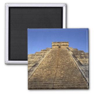 Templo de Kukulcan o castillo de Castillo) en 2 Imán Cuadrado