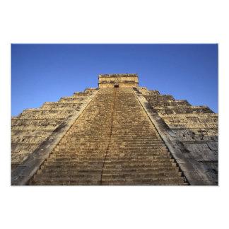 Templo de Kukulcan o castillo de Castillo) en 2 Impresión Fotográfica