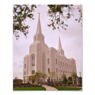 Templo de la ciudad LDS de Brigham Fotografía