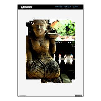 Templo de la escultura en Bali Pegatina Skin Para iPad 3