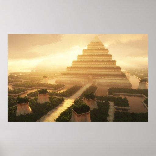 Templo de la hoja (ajustada) poster