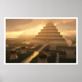 Templo de la hoja póster