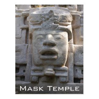 Templo de la máscara tarjeta postal