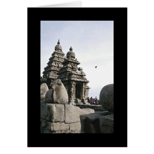 Templo de la orilla tarjetas