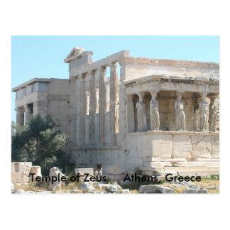 Templo de la postal de Zeus