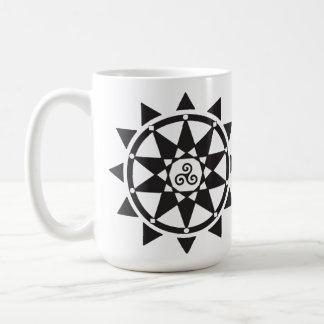 Templo de la taza del logotipo de la brujería