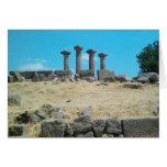 Templo de las ruinas de Athena, Assos, Behramkale, Tarjeta