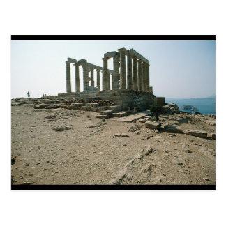 Templo de las ruinas de Poseidon Tarjeta Postal