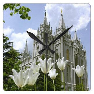 Templo de LDS Reloj De Pared