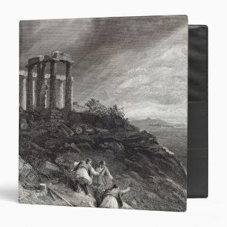 "Templo de Minerva Sunium, grabado por J. Saddler Carpeta 1 1/2"""