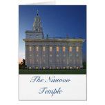 Templo de Nauvoo en la oscuridad Felicitación