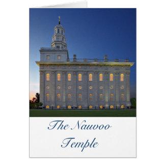 Templo de Nauvoo en la oscuridad Tarjeta De Felicitación