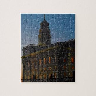 Templo de Nauvoo en la puesta del sol Puzzles Con Fotos