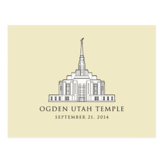 Templo de Ogden Utah. De sept. el 21 de 2014. Tarjetas Postales