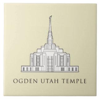 Templo de Ogden Utah. teja
