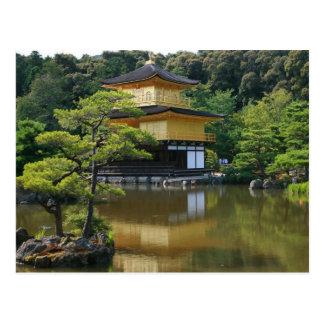 Templo de oro del pabellón en Kinkaku Postal