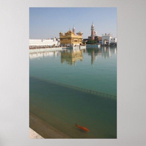 Templo de oro Harmandir Sahib Amritsar la India de Posters