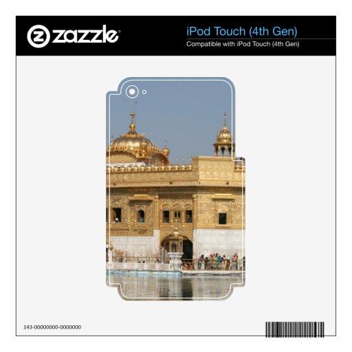 Templo de oro Harmandir Sahib Amritsar la India de iPod Touch 4G Calcomanías