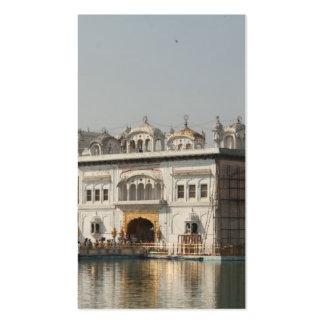 Templo de oro Harmandir Sahib Amritsar la India de Plantilla De Tarjeta De Visita