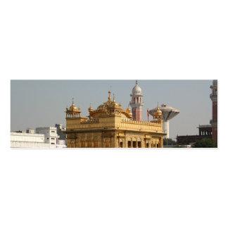 Templo de oro Harmandir Sahib Amritsar la India de Plantillas De Tarjetas De Visita