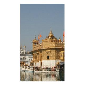 Templo de oro Harmandir Sahib Amritsar la India de Tarjeta De Visita